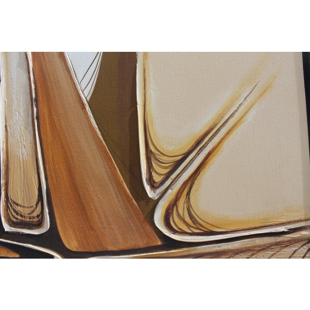 Oil Paint Vintage Abstract Composition by Christie For Sale - Image 7 of 11