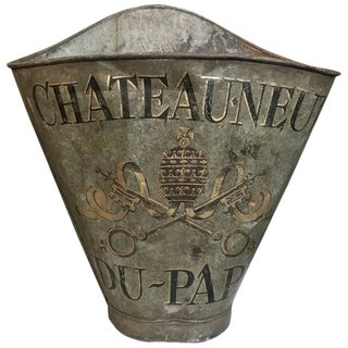 19th Century Painted Metal Grape Harvester's Basket For Sale