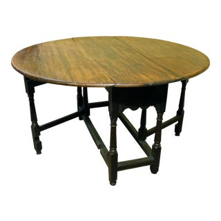 English Oval Gateleg Table For Sale