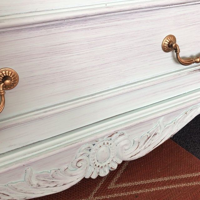 Shabby Chic French Provencal Large Scale Armoire For Sale - Image 3 of 13