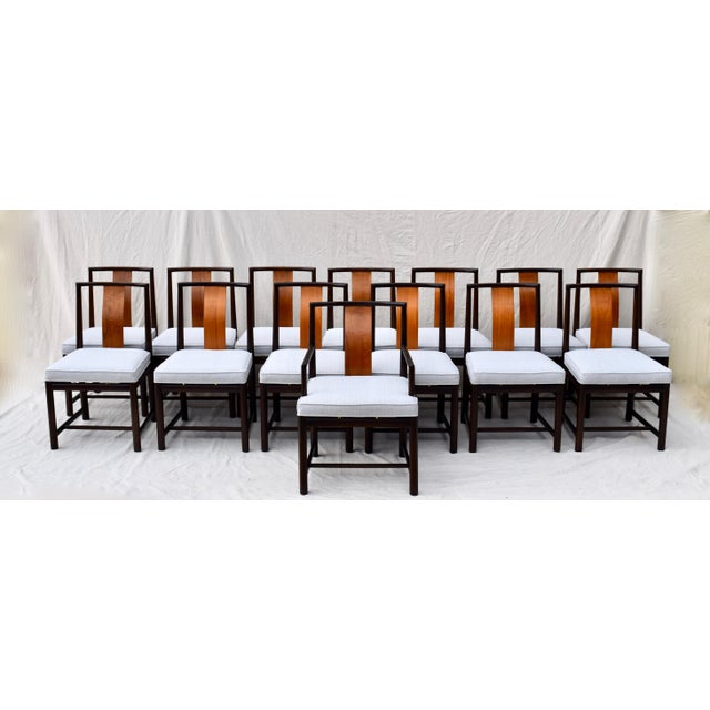 1960s 1960s Vintage John Stuart Dining Chairs- Set of 14 For Sale - Image 5 of 13