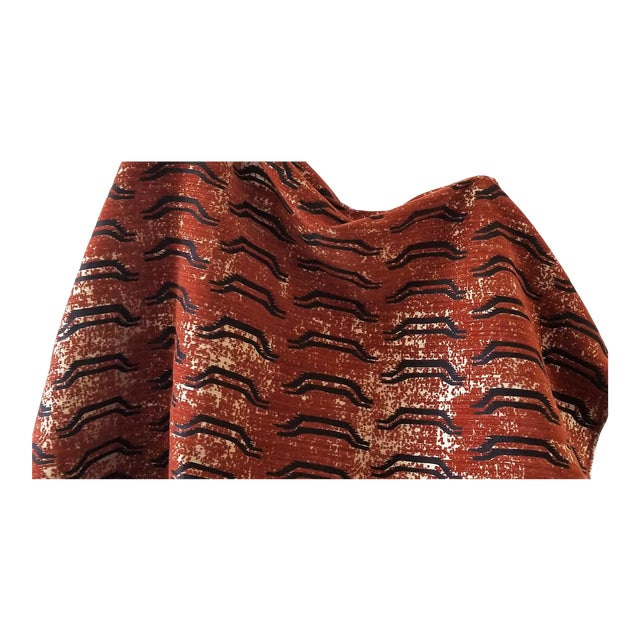 Virginia Kraft Bagha Fabric, 3 Yards in Henna For Sale