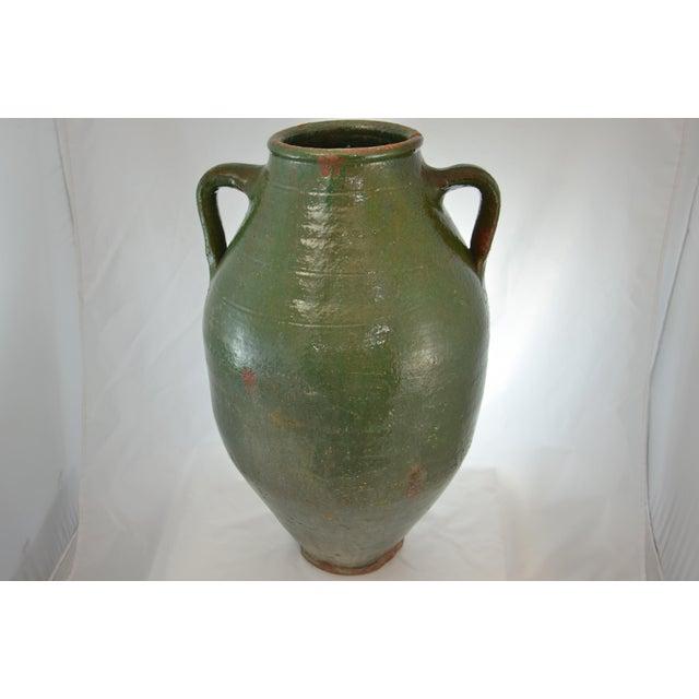 Turkish Oversize Dark Green Glazed Urn - Image 2 of 9