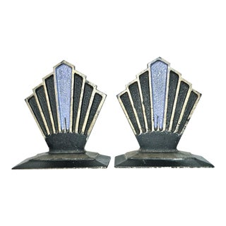 C. 1927 Hubley Sunburst Bookends - A Pair