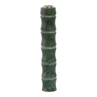 Candle Holder in Green Marble by Michele Chiossi, Made in Italy For Sale