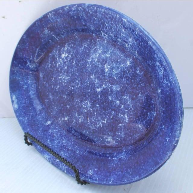 19th Century Sponge Ware Serving Platter For Sale - Image 4 of 4