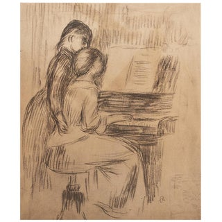 "1959 Auduste Renoir ""The Music Lesson"", Hungarian Lithograph For Sale"