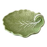 Image of Large Cabbage Leaf Serving Platter-Vintage Bordallo Pinheiro, Portugal For Sale