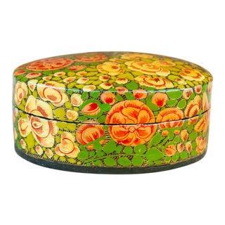 Multicolor Floral Kashmiri Tikka Box For Sale