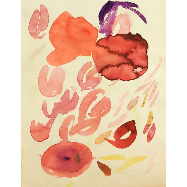 Abstract Abstract Floral Study Watercolor PAinting For Sale - Image 3 of 3