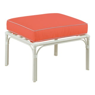 Haven Outdoor Ottoman, Melon and Blush For Sale