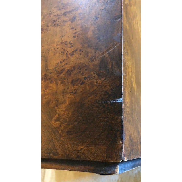 Brown 1970s Milo Baughman Burl Wood Large Cube End Table For Sale - Image 8 of 13