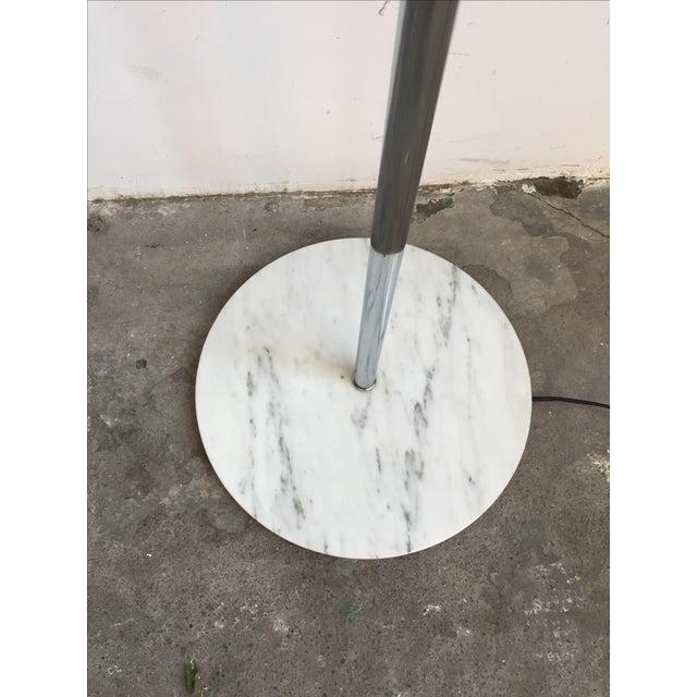 Chrome Floor Lamp with White Glass Mushroom Shade - Image 3 of 10