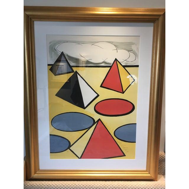 Alexander Calder signed and numbered color lithograph , number 90 of 125. American artist Alexander Calder, is best known...