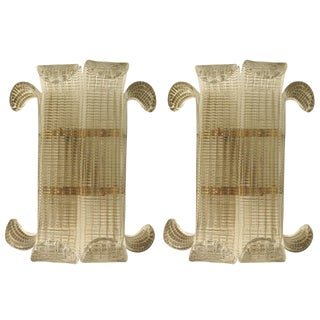 Barovier E Toso Leaves Sconces - a Pair For Sale