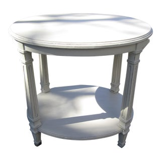 Vintage Accent Table With Pull-Out Writing Surface For Sale