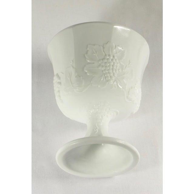 1950s 1950s Milk Glass Pedestal Urn / Planter For Sale - Image 5 of 8
