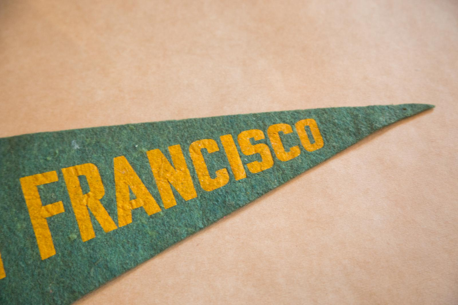 1940s San Francisco CA Felt Flag   Image 2 Of 4