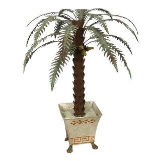 Italian Tole Decorative Palm Tree For Sale
