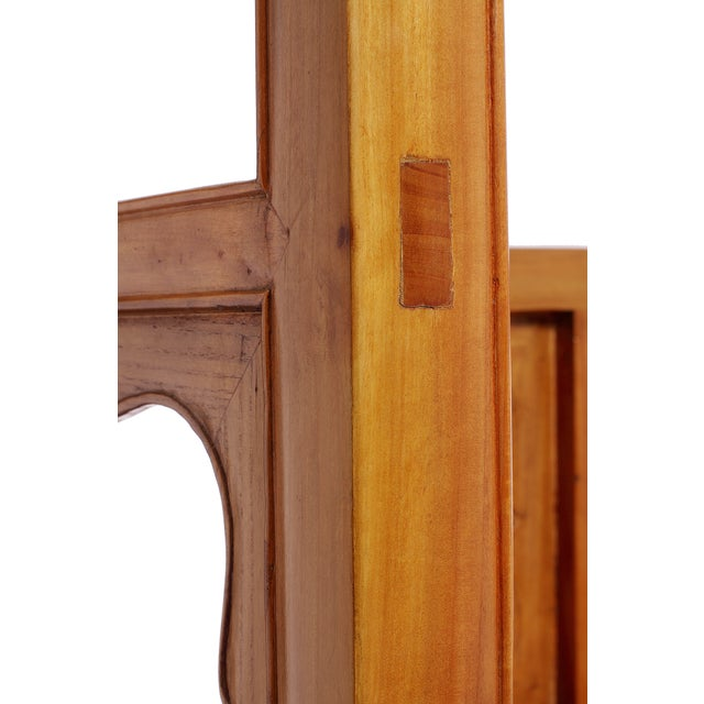 Carved Panels Elm Bookcase For Sale - Image 5 of 5