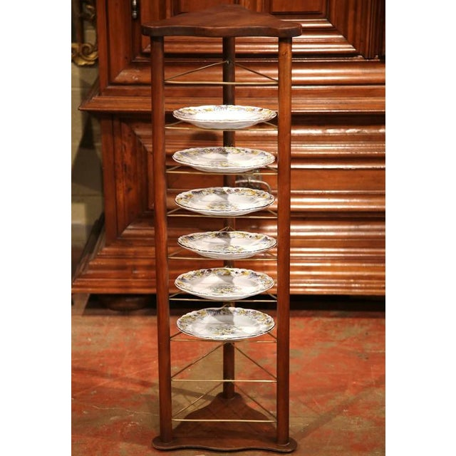Late 19th Century 19th Century French Louis Philippe Walnut Plate Rack For Sale - Image 5 of 9