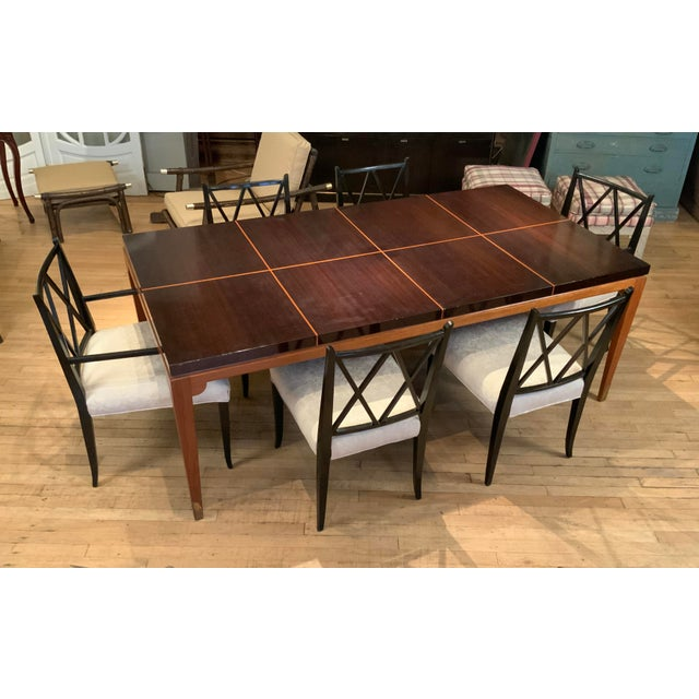 1950s Mahogany Extension Dining Table by Tommi Parzinger for Parzinger Originals For Sale - Image 12 of 13
