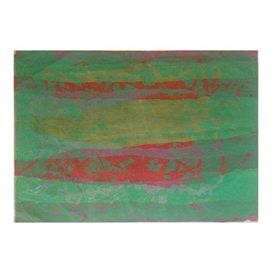 Mid Century Abstract Silkscreen Bay Area Female Artist For Sale