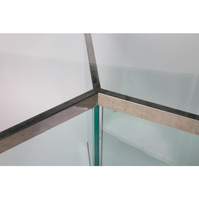 Mid-Century Modern Leon Rosen Classic Design Chrome Base Dining Table for Pace Collection For Sale - Image 3 of 11