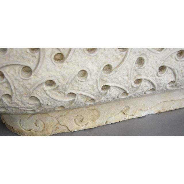 Carved Marble Planter - Image 5 of 8