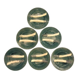 Creil & Montereau Asparagus Plates - Set of 6 For Sale