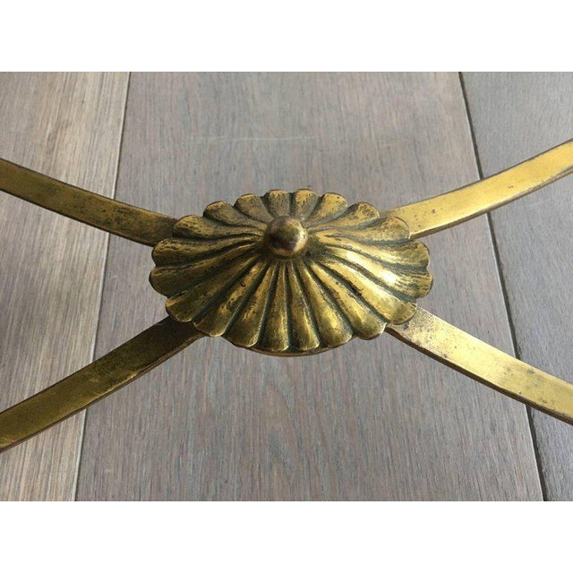 Neoclassical Coffee Table With Gilt Base and Reverse Painted Mirror Top - Image 10 of 11