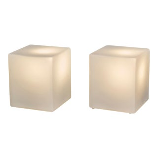 Cube Form Table Lamps by Laurel For Sale