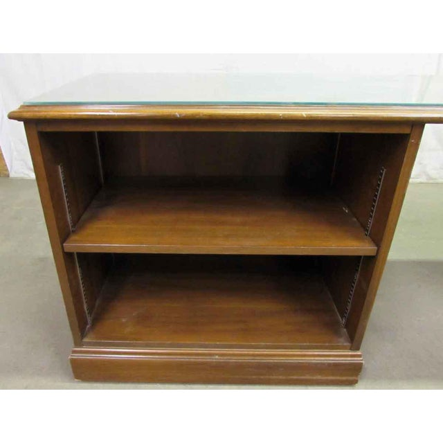 1980s Walnut Executive Desk For Sale - Image 6 of 9