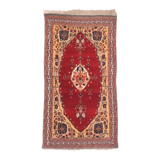 Antique Red Qushkai Persian Area Rug For Sale