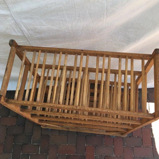 Vintage Industrial Wooden Bakers Rack For Sale - Image 6 of 10