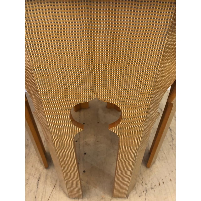 Moroccan Inspired Grass Cloth Wrapped Side Table For Sale In Philadelphia - Image 6 of 9