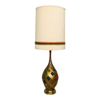 Mid-Century Modern Ribbon Swirl Table Lamp For Sale
