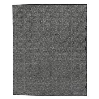 Witney Charcoal Flatweave Wool/Silk Area Rug - 10'x14' For Sale