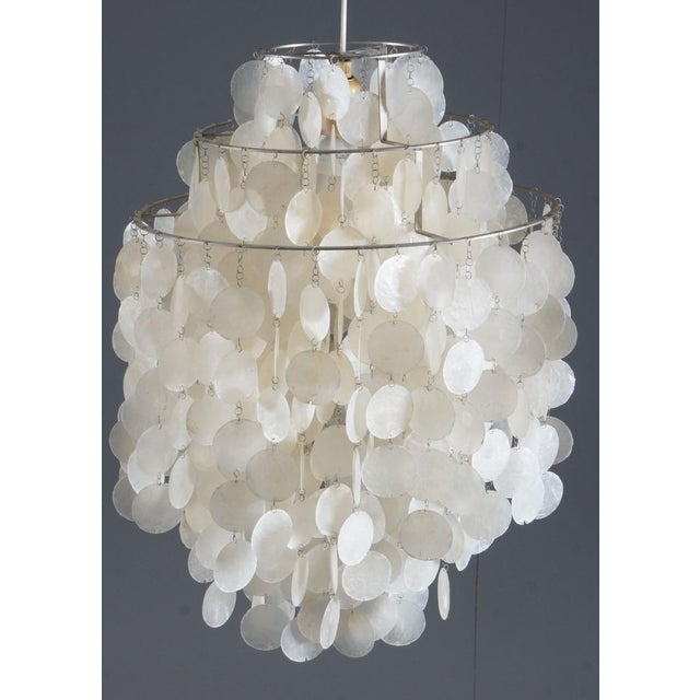 Fun 1 DM Capiz cap chandelier by Verner Panton for Luber For Sale - Image 6 of 8