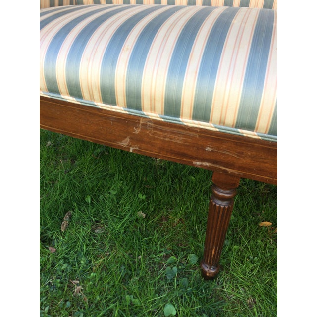 Traditional Antique Sheraton Style Loveseat - Image 6 of 11