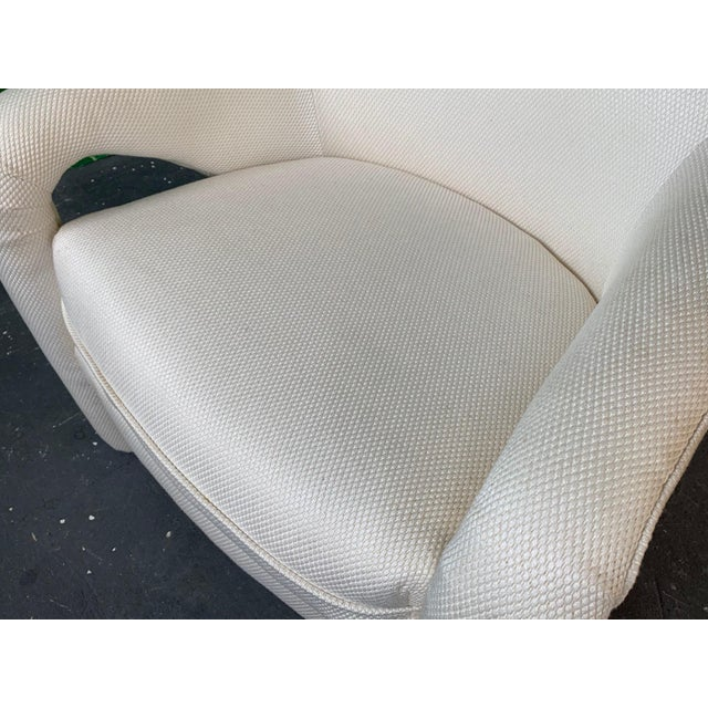 White Pair of Vladimir Kagan Sculptural Club Chairs For Sale - Image 8 of 11