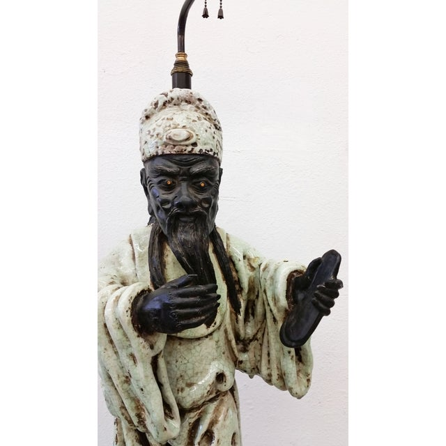 James Mont Style Figural Table Lamp - Image 3 of 8