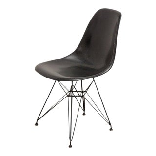Mid 20th Century Black Eames for Herman Miller Shell Chair on Eiffel Base For Sale
