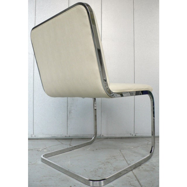 Chrome Set of Four Cantilever Chairs by Brueton For Sale - Image 7 of 8