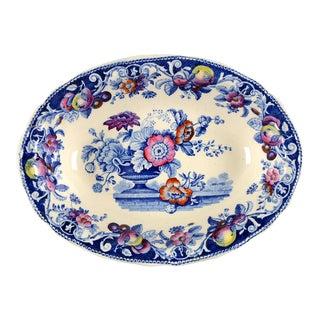 Royal Doulton Pomeroy Blue, Multicolor Oval Serving Bowl For Sale