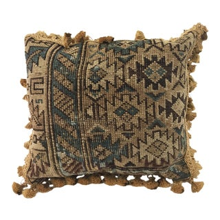 "19th C Caucasian Chirvan Fragment Pillow 14"" W"
