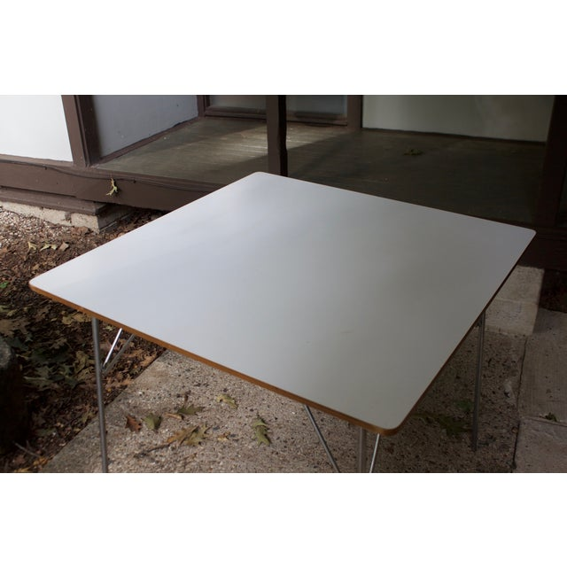 Eames DTM20 Folding Dining Table by Herman Miller For Sale - Image 7 of 8