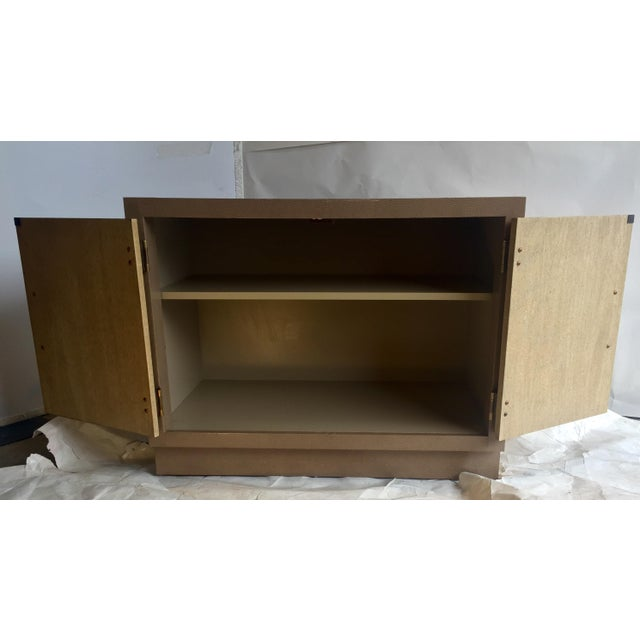 Marge Carson Ostrich Skin & Brass Accent Cabinet - Image 5 of 8