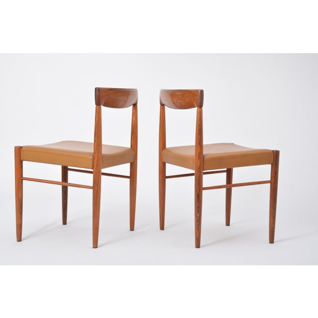 These dining chairs were designed by H. W. Klein and manufactured by Bramin in the 1960s in Denmark. The frames are made...