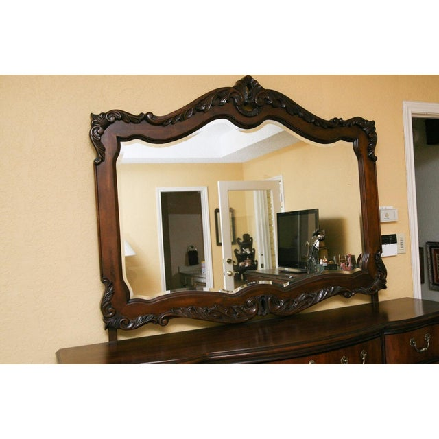 Contemporary Louis XV Style Dresser With Mirror - Image 4 of 9